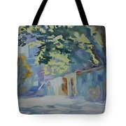 Sunlit Wall Under A Tree Tote Bag