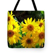 Sunlit Wild Sunflowers Tote Bag