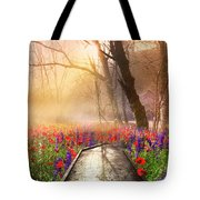 Sunlit Wildflowers Tote Bag