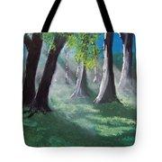 Sunlit Woods Tote Bag