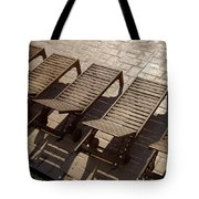 Sunning Chairs Tote Bag