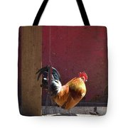 Sunning Rooster Tote Bag