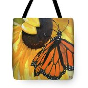 Sunny Butterfly Tote Bag