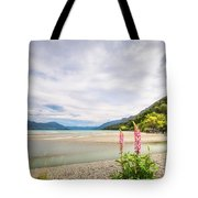 Sunny Day At Kinloch Wharf In New Zealand Tote Bag