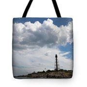 Sunny Day At Marblehead Lighthouse Tote Bag
