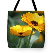 Sunny Day Flowers Tote Bag