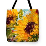 Sunny Day Sunflowers Tote Bag by Barbara Pirkle