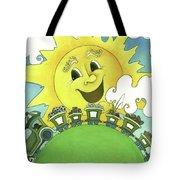 Sunny Day Train Tote Bag