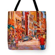 Sunny Downtown  Tote Bag