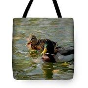 Sunny Mallard Ducks Tote Bag