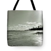 Sunny March Day On The West Beach Tote Bag