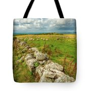 Sunny Meadow Sheep Tote Bag