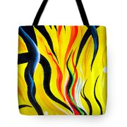 Sunny Morning, Energy. Abstract Art Tote Bag