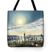 Sunny Morning On Crescent Beach Tote Bag
