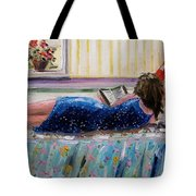 Sunny Reading Tote Bag