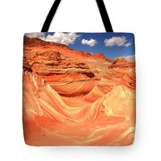 Sunny Skies Over The Wave Tote Bag