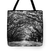 Sunny Southern Day - Black And White With Black Border Tote Bag