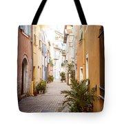 Sunny Street In Villefranche-sur-mer Tote Bag