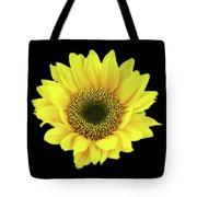 Sunny Sunflower Black Yellow Tote Bag