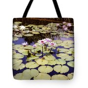 Sunny Waterlilies Tote Bag