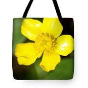 Sunny Yellow Cinquefoil Tote Bag