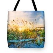 Sunrays On The Beach Tote Bag