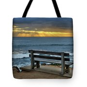 Sunrays On The Horizon Tote Bag