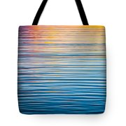 Sunrise Abstract On Calm Waters Tote Bag by Parker Cunningham