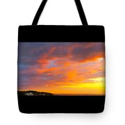 Sunrise And Clouds Over Pigeon Cove Tote Bag