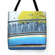 Sunrise And Flags Tote Bag