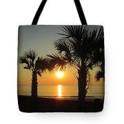 Sunrise And Palms Tote Bag