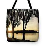 Sunrise And Silhouettes  Tote Bag