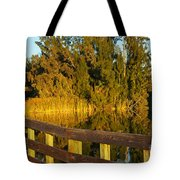 Sunrise At A Lake Tote Bag