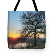 Sunrise At Amelia Earhart Home. Tote Bag