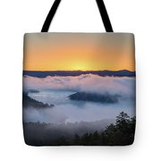 Sunrise At Broken Bow Lake Tote Bag