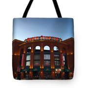 Sunrise At Busch Stadium Tote Bag