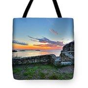 Sunrise At Castle Rock Marblehead Ma Rocky Coast Tote Bag