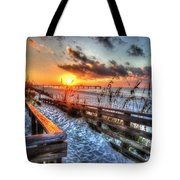 Sunrise At Cotton Bayou  Tote Bag by Michael Thomas