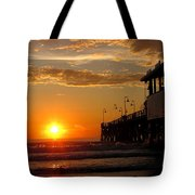 Sunrise At Daytona Beach Pier  004 Tote Bag