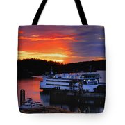 Sunrise At Friday Harbor Tote Bag