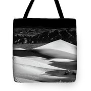 Sunrise At Mesquite Flat Sand Dunes Panorama Tote Bag