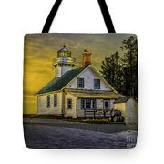 Sunrise At Mission Point Light Tote Bag