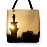 Sunrise At Mosque Of Tadjourah In Djibouti East Africa Tote Bag