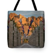Sunrise At Mount Rushmore Promenade Tote Bag