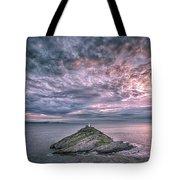Sunrise At Mumbles Lighthouse Tote Bag