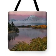 Sunrise At Oxbow Bend Tote Bag