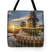 Sunrise At Pineapple Fountain Tote Bag