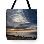 Sunrise At Rudee Inlet Tote Bag