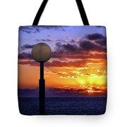 Sunrise At Sea Off The Delmarva Coast Tote Bag