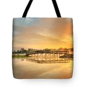 Sunrise At Sunset Lake Tote Bag